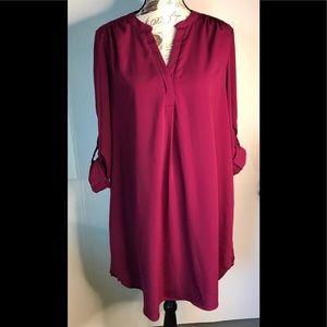 Philosophy  Midi  Pop Over Shirt  Dress Size XL